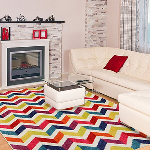 Rory Red/Yellow Area Rug by Latitude Run