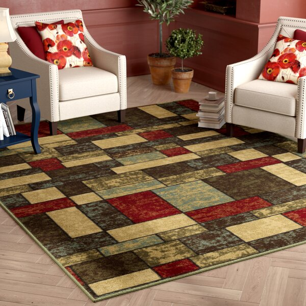 Galesburg Brown/Red Area Rug by Andover Mills
