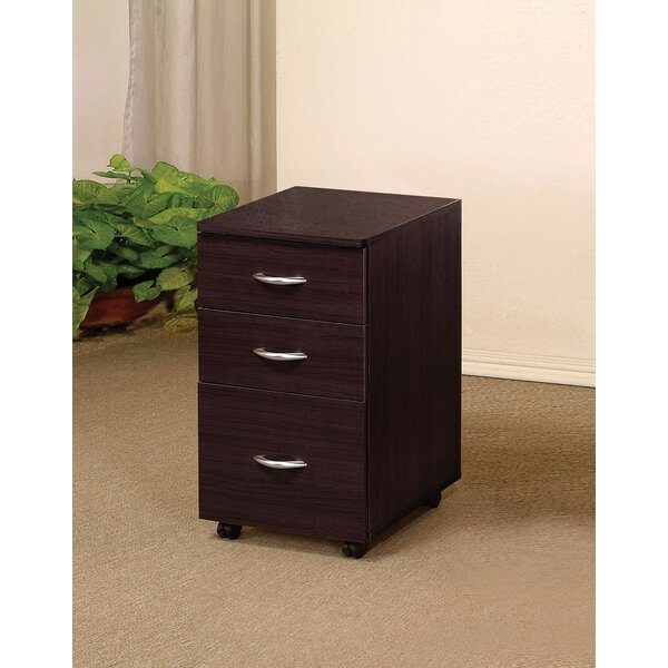 Burrage 3 Drawer Mobile File Cabinet by Ebern Designs