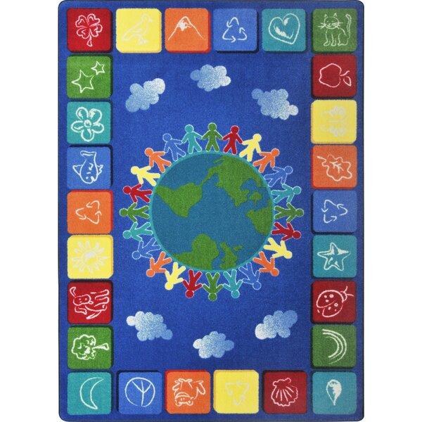 Kid Essentials One World Tufted Light Blue/Yellow Rug