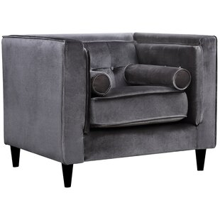Ordinaire Silver Velvet Chair | Wayfair