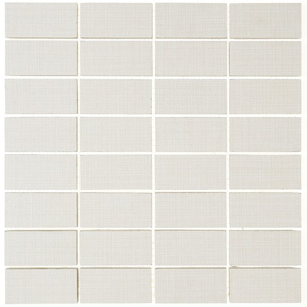 1 x 3 Ceramic Mosaic Tile in Modern Text Beige