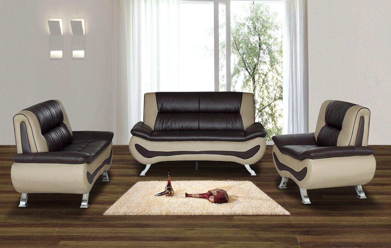 Leather Living Room Sets Youu0027ll Love | Wayfair