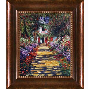 Garden Path at Giverny by Claude Monet Framed Painting Print by Tori Home