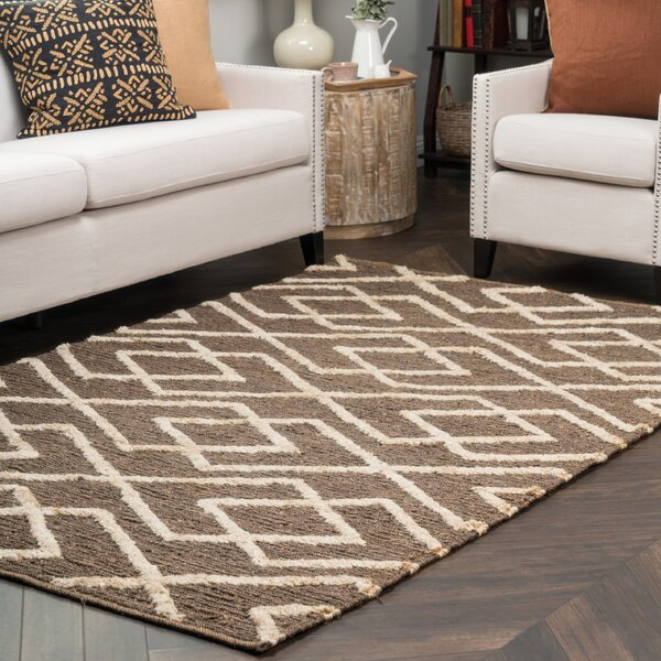 Athena Hand Woven Chocolate/Bleach Area Rug by Kosas Home