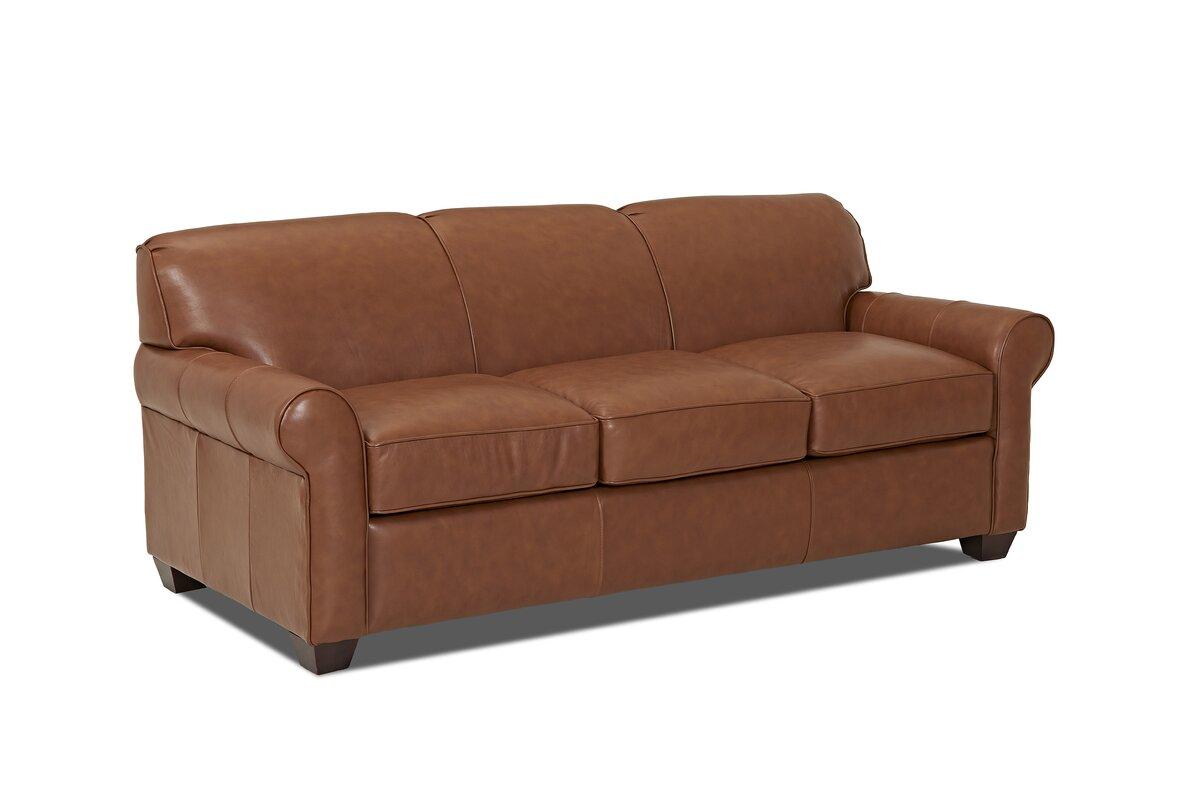 Wayfair Custom Upholstery™ Jennifer Leather Sofa & Reviews