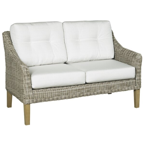Eaglin Loveseat with Cushions by Highland Dunes