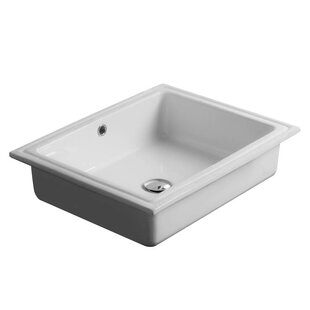 Bargain City Ceramic Rectangular Undermount Bathroom Sink with Overflow By WS Bath Collections