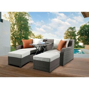 Salena Patio Sofa with Cushions By Gracie Oaks