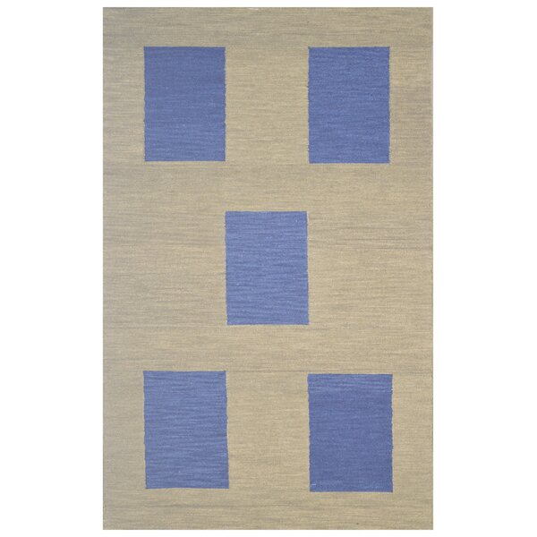 Wool Hand-Tufted Green/Navy Blue Area Rug by Eastern Weavers