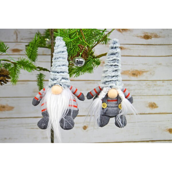 2 Piece Klaas Agnek Fabric Small Gnome Decoration Set by The Holiday Aisle