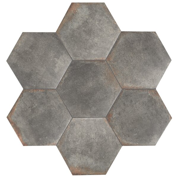 Relic Hex 11 x 12.63 Porcelain Field Tile in Notte by EliteTile