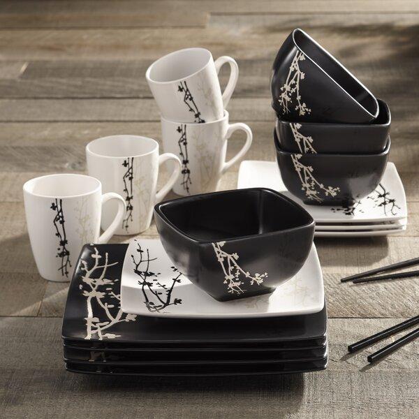 Twilight Blossom 16 Piece Dinnerware Set, Service for 4 by Design Guild
