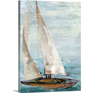 'Quiet Boats III' by Allison Pearce Painting Print on Canvas by Great Big Canvas