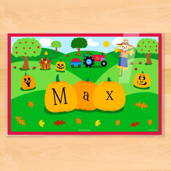 Fall Pumpkins Personalized Placemat by Olive Kids