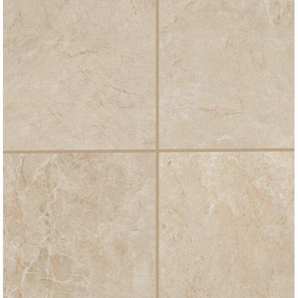 Bradwell Glazed 12 x 12 Porcelain Filed Tile in Crema Marfil by Mohawk Flooring