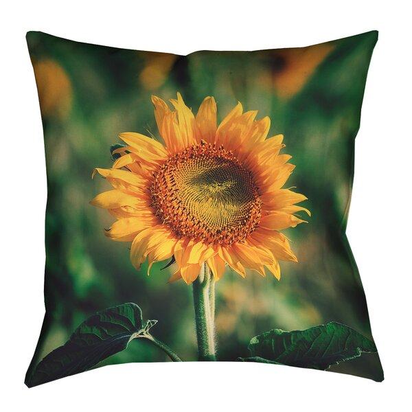 Holst Sunflower Outdoor Throw Pillow