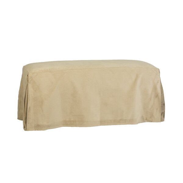 Long Pleated Bench Slipcover By Darby Home Co