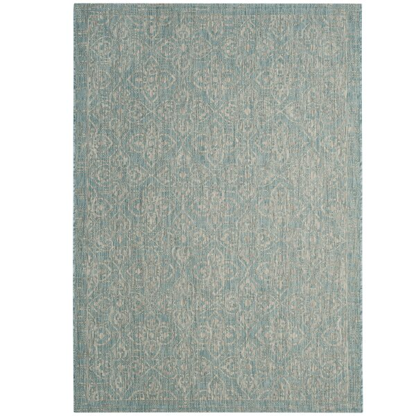 Hettinger Aqua/Gray Area Rug