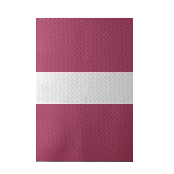 Narrow the Gap Stripe Print Pink Cheeks Indoor/Outdoor Area Rug by e by design