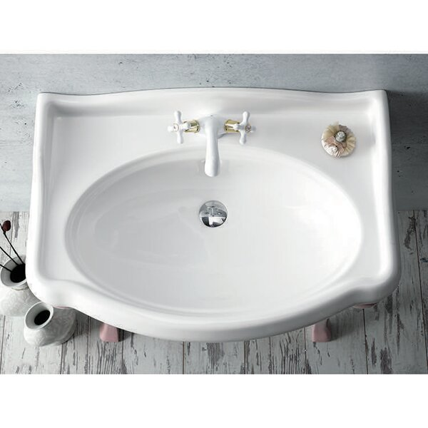Ceramic 32 Wall Mount Bathroom Sink with Overflow by CeraStyle by Nameeks