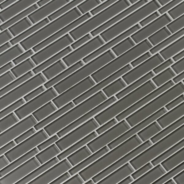 Pebble Interlocking Glass Mosaic Tile in Gray by MSI