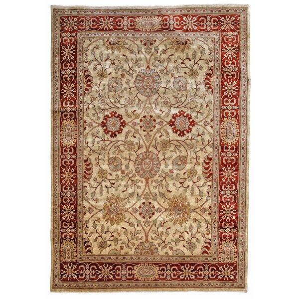 Noa Ushak Hand-Knotted Wool Brown Area Rug