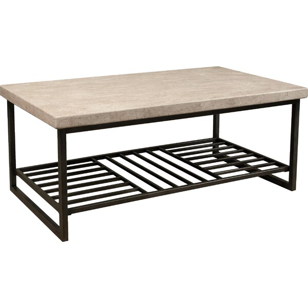 Latrell Floor Shelf Coffee Table with Storage by Brayden Studio Brayden Studio