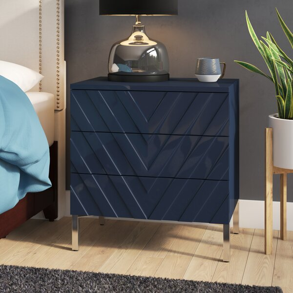 Malcom 3 Drawer Nightstand By Mercury Row by Mercury Row Sale