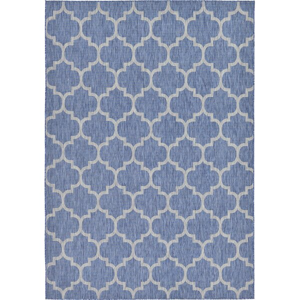 Landon Blue Indoor/Outdoor Area Rug by Andover Mills
