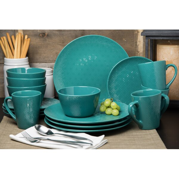 Danielsville 16 Piece Dinnerware Set, Service for 4 by Bungalow Rose