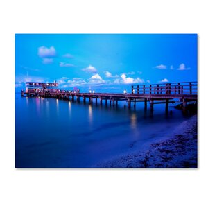 'Florida Pier' by Preston Photographic Print on Wrapped Canvas by Trademark Fine Art