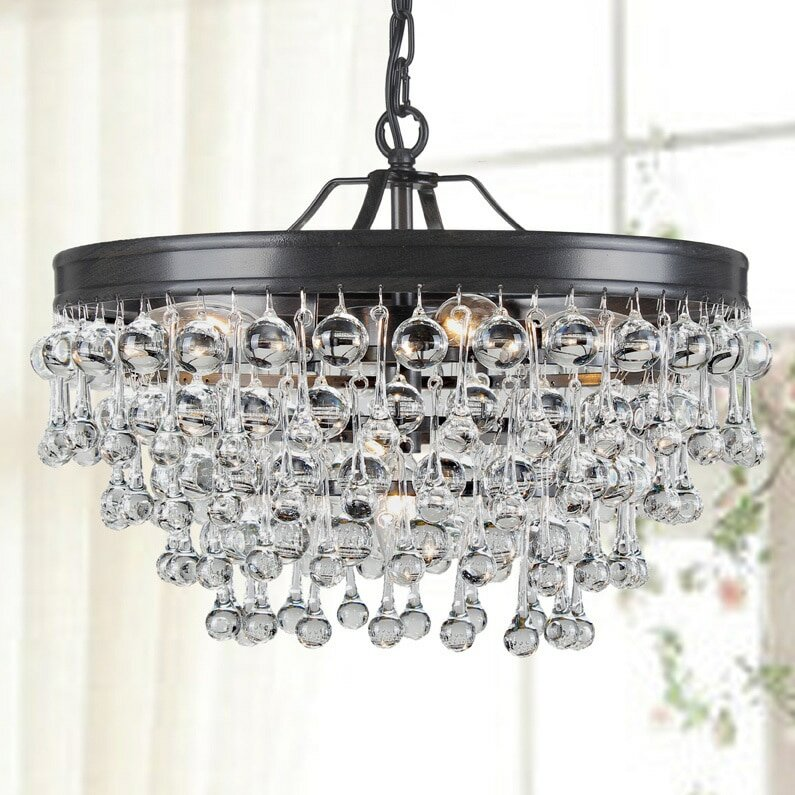 claudia 5light mini crystal chandelier