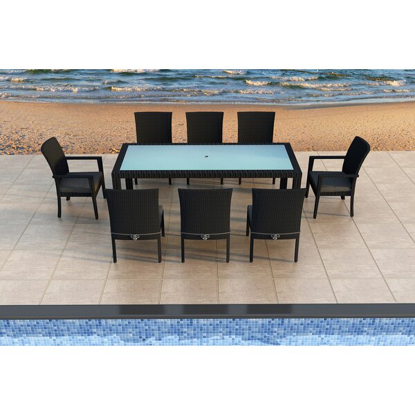 Urbana 9 Piece Sunbrella Dining Set with Cushions by Harmonia Living