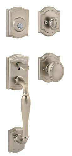 Wesley Single Cylinder Handleset with Carnaby Knob Featuring SmartKey by Kwikset