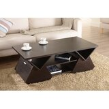 Trestle Coffee Table with Storage by Hokku Designs