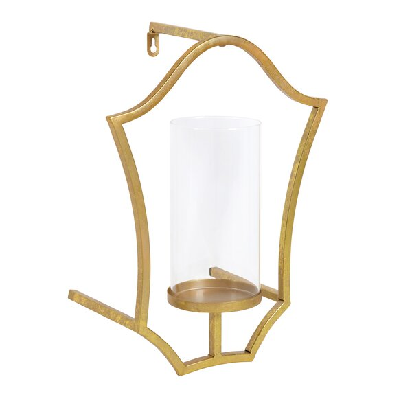 Shield Metal Sconce by Bloomsbury Market