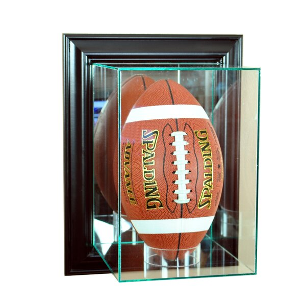 Wall Mounted Upright Football by Perfect Cases and Frames