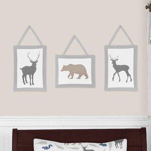 Woodland Animals 3 Piece Wall Hanging Art Set