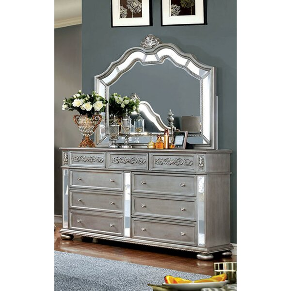 Terrence 9 Drawer Dresser with Mirror by Rosdorf Park