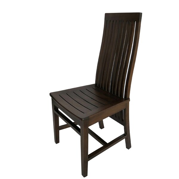Henagar Solid Wood Dining Chair by Highland Dunes