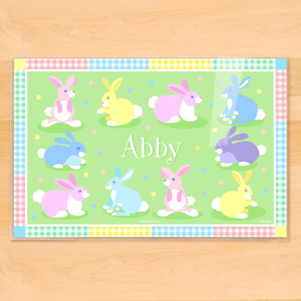 Easter Bunnies Personalized Placemat by Olive Kids