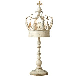 Reviews Wellow Distressed Crown on Stand 34 Table Lamp By Ophelia & Co.