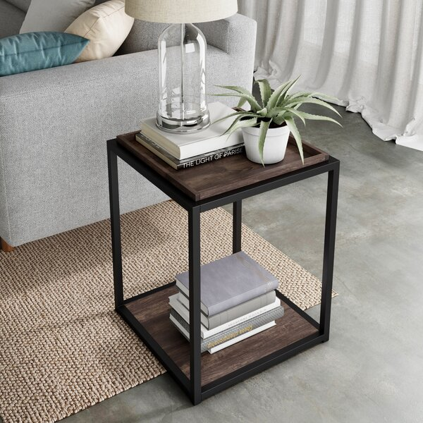 Rentz TrayTop Floor Shelf End Table With Storage By 17 Stories