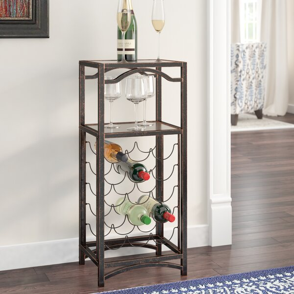 Floyd Metal Storage 15 Bottle Floor Wine Bottle Rack by Darby Home Co Darby Home Co