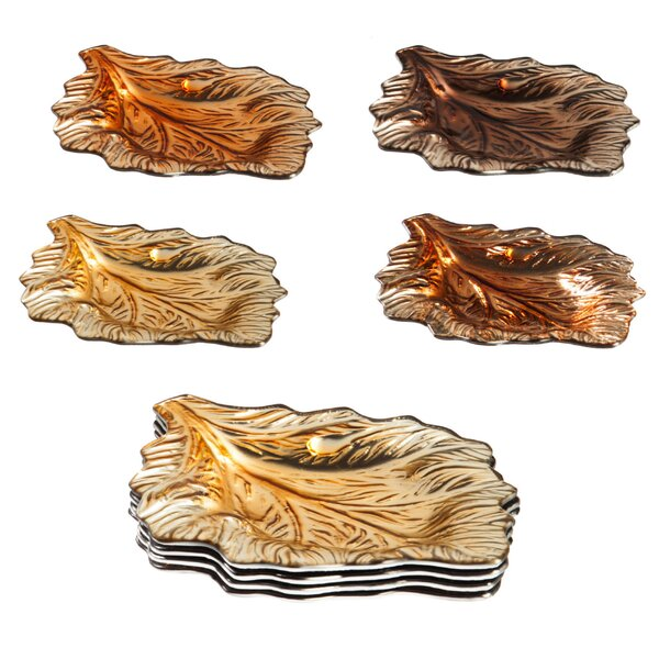Waynesfield Fall Leaves 4 Piece Appetizer Plate Set by Darby Home Co