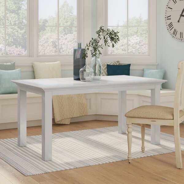 Amityville Extendable Solid Wood Dining Table by Beachcrest Home