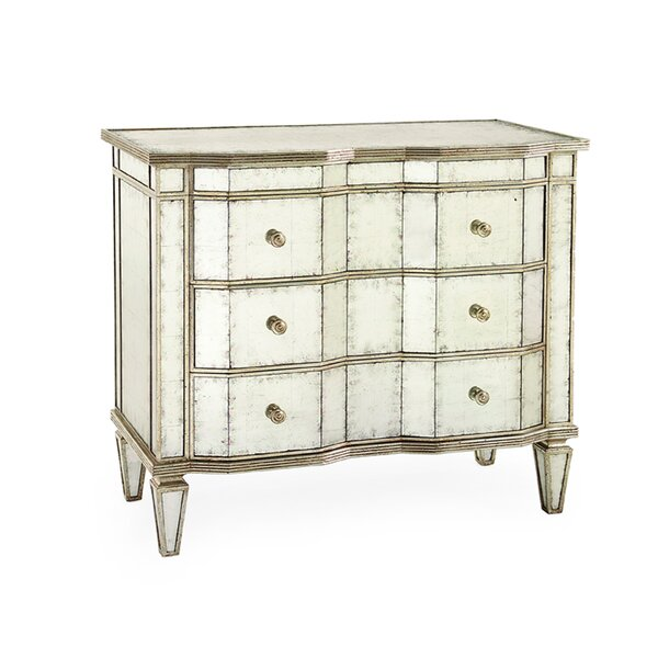 Eglomise 3-Drawer Accent cabinet by John-Richard