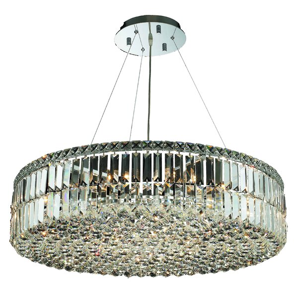 Langer 18-Light Crystal Chandelier by House of Hampton