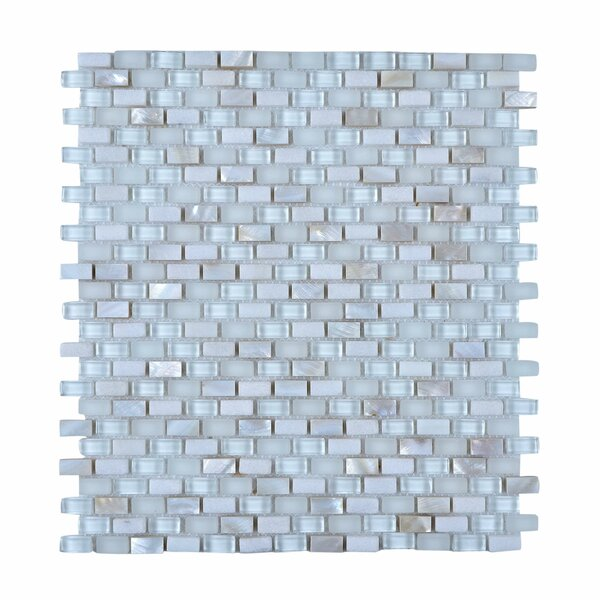 11.75 x 11.75 Stone and Glass Mosaic Tile in White by Legion Furniture